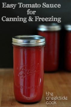 My super easy method for getting a lot of tomato sauce made in a hurry - time to think about canning! | The Creekside Cook | #tomatoes #canning #produce #preserving