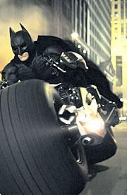The Batpod is my top favorite of all the vehicles that Batman has.  So cool!