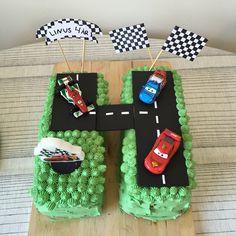 Blixten McQueen tårta, Lightning McQueen cake Cars