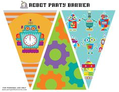 Planning a Robot Party? This list of must have robot birthday party ideas is your go to resource to make sure you cover all the essentials. Birthday Party Decorations, Party Themes, Party Ideas, Robot Cupcakes, Robot Cake, Bunting Template, Robot Theme, Mickey Mouse, How To Make Banners