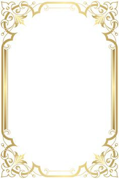Gold Frame, Picture Frame - Photo Frame Transparent Image and Clipart Frame Border Design, Boarder Designs, Page Borders Design, Boarders And Frames, Art Frames, Wedding Invitation Background, Printable Frames, Frame Background, Borders For Paper
