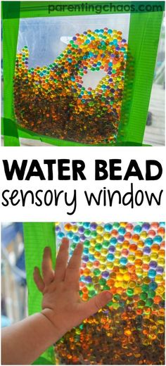 Sensory Window Bag Water bead sensory bag for toddlers and preschoolers. What a fun mess-free sensory activity.Water bead sensory bag for toddlers and preschoolers. What a fun mess-free sensory activity. Toddler Play, Toddler Learning, Toddler Preschool, Toddler Activities For Daycare, Infant Daycare Ideas, Art With Toddlers, Sensory Activities For Toddlers, Infant Classroom Ideas, Toddler Daycare Rooms