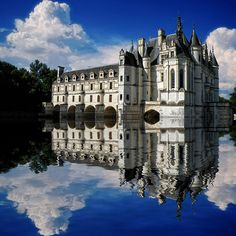 Chateau-de-Chenonceau in the Loire Valley. Not the ideal angle, but also another clear inspiration for Cinderella's Castle.