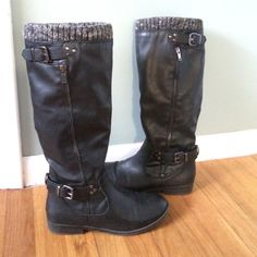 ALDO size 8 boots! Size 8 aldo black boots! Perfect for fall winter and spring! ALDO Shoes Combat & Moto Boots