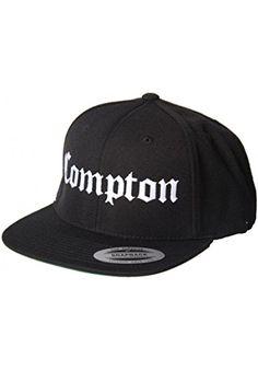 d0bb5f37e1558 Magic Custom - Casquette Snapback Compton - Noir - Taille Ajustable   Amazon.fr  Vêtements et accessoires