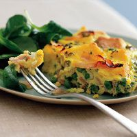 Ham and Peas Casserole. Serve this easy-to-freeze casserole with a fresh green salad on the side.  Rachael Ray best freezable recipes