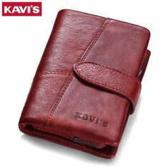 KAVIS 2017 Genuine Leather Women Wallet And Purses Female Girls Money Bag