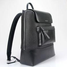f29eab958c32 Archer Brighton: Best Black Leather Backpack, Men's Travel Backpack 15