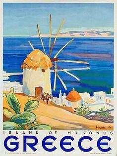 Greece | Vintage travel poster | European travel