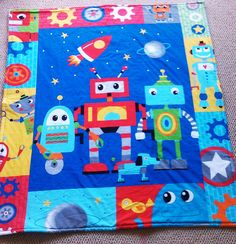 Graham would love this. Robot Quilted baby and Toddler Play mat/Comforter by LilTotWonder, $48.00