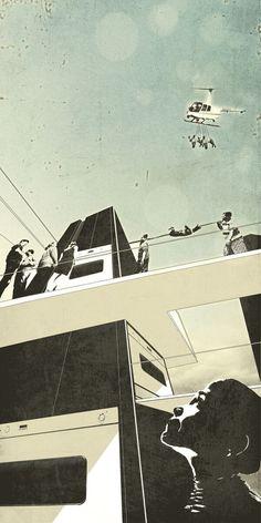 Living Large NIce comic book atmosphere