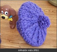 "Free crochet hat pattern for 18"" American Girl Doll."