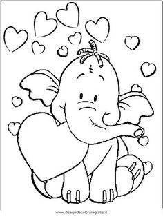 elefant with hearts