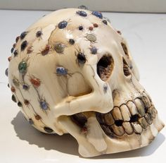 Antique Ivory Skull