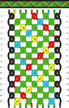 Normal Friendship Bracelet Pattern #2705 - BraceletBook.com