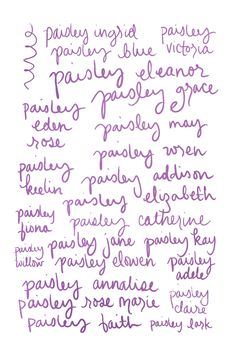 List Of Ideas For A Middle Name Baby Girls Paisley Requested Days Ago