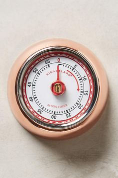 Anthropologie EU Magnetic Timer. A well-loved kitchen staple, in charmingly retro colours. Simply turn the dial one complete rotation to 60 minutes before setting your time to jumpstart the mechanism, and you'll never overcook a three-minute-egg again.