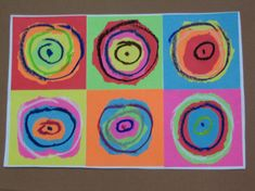 kandisky 015 Artists For Kids, Art For Kids, Kadinsky For Kids, Wassily Kandinsky, Projects, Painting, Paint Ideas, Pants, Tops