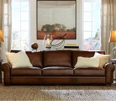 Tips That Help You Get The Best Leather Sofa Deal. Leather sofas and leather couch sets are available in a diversity of colors and styles. A leather couch is the ideal way to improve a space's design and th Living Room Sofa, Living Room Furniture, Home Furniture, Furniture Ideas, Sofa Ideas, Furniture Design, Brown Leather Sofa Living Room Decor, Furniture Cleaning, Refurbished Furniture