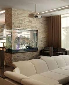 Aquariums Saltwater Fish Tanks In wall fish tank Fish Tank Wall, Saltwater Fish Tanks, Saltwater Aquarium, Aquarium Design, Aquarium In Wall, Aquarium House, Corner Aquarium, Glass Aquarium, Home Interior Design
