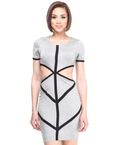 Baby Phat - Colorblock Mod Cutout Dress