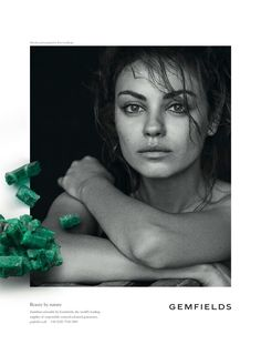 Mila Kunis Returns for Gemfields 2014 Campaign