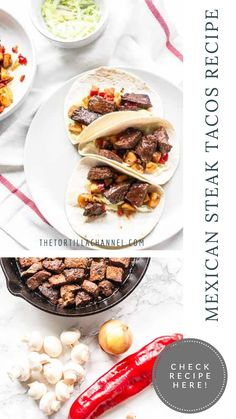 Looking for an easy steak taco recipe? Try these steak bites tacos. It is a very easy recipe with lots of flavor. Mexican steak tacos are delicious. Mexican Steak Taco Recipe, Mexican Food Recipes, Corn Recipes, Steak Recipes, Cajun Spice Mix, Avocado Guacamole, Asada Tacos, Taco Ingredients, Tender Steak