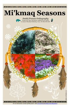 Mi'kmaq seasons - audible pronunciation of season words Native American Images, Native American Beauty, Native American Tribes, Native American History, Native Americans, Native Canadian, Canadian Art, Native American Spirituality, Aboriginal People