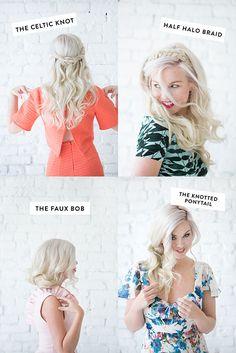 DIY hair styles   designlovefest