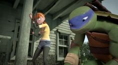 Leo and April TMNT 2012 NEW EPISODE