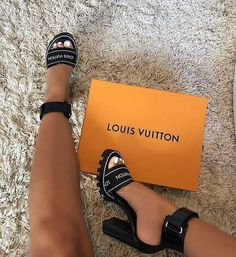STYLE DETAILS One of the season's most wanted styles, this ankle-strap sandal features a graphic Louis Vuitton elastic on the front strap. - Glazed calf leather and patent calf leather- cm / inch heel- Rubber outsole True to Size True to Size. Dream Shoes, Crazy Shoes, Me Too Shoes, Stilettos, Stiletto Heels, Louis Vuitton Strap, Louis Vuitton High Heels, Louis Vuitton Sneakers, Louis Shoes