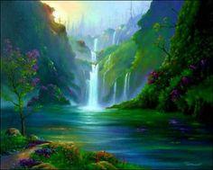 painting waterfalls