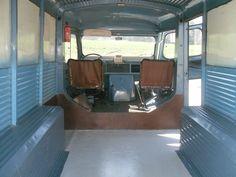 inside of The HY citroen van on sale next year, very good condition. Citroen Type H, Citroen H Van, Vintage Vans, Bus, Camping Car, Caravan, Trucks, France, Food Truck