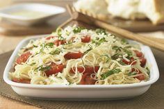 Fresh tomatoes and basil are key to this dish's vibrant flavor. But it's the Italian dressing that really makes it sing. And you thought only a restaurant could pull this off.