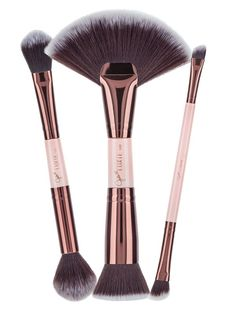 Ready, Set, Sculpt! @jadewadey180 Creates her magnificent collection with her top 6 brushes that are her contour MUST-HAVES! Featuring a dual-end design for efficient storing, these makeup brushes ha