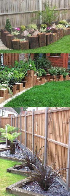 Create Awesome Garden Edging to Improve Your Curb Appeal - Diy Garden Decor İdeas Garden Yard Ideas, Diy Garden, Garden Beds, Lawn And Garden, Backyard Ideas, Garden Path, Backyard Patio, Lawn Edging, Garden Edging