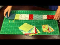 How to Make This Quilt: Citrus Charm table runner - YouTube