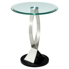 An easy way to add a pop of modern style to your den or living room, this eye-catching end table looks great by your sofa or loveseat.