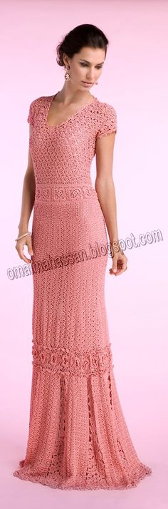 crochet kingdom (E.H): femininity long crochet dress !