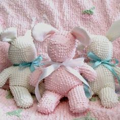 Sniglets Baby Boutique: Nubby Chenille Bunny