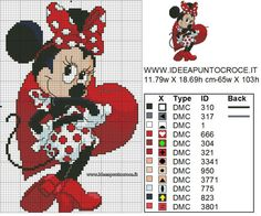 SCHEMA MINNIE PUNTO CROCE                                                                                                                                                     More