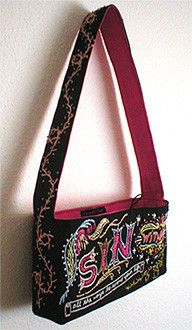 Flashback to 2004 - a purse I hand embroidered was purchased long ago by someone in Los Angeles. Where, oh where is it today?