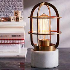 Petite lampe cage