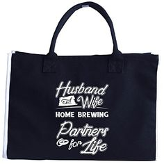 Husband And Wife Home Brewing Partners For Life  Tote Bag * You can find more details by visiting the image link. #XmasStorageOrganization