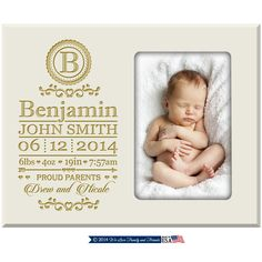 New Baby Grandparent Gift,New Parent Gift New Godparents Photo frame with Baby birth announcement and stats ,New Baby birth stats frame by Welovefamily on Etsy New Baby Photos, Cute Baby Pictures, Newborn Pictures, Personalized Photo Frames, Personalized Baby, Baby Picture Frames, Little Blessings, Gifts For New Parents, Baby Keepsake