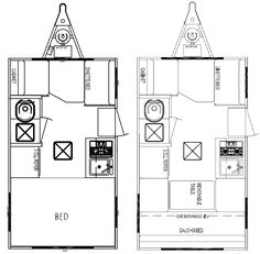 Caravan Camper Van And Motor Home Floor Plans On Pinterest Floor