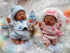 Ooak Mini Twin Art Babies Doll by Bttrfly Creations Tiny Dolls, Ooak Dolls, Reborn Dolls, Reborn Babies, Art Dolls, Mini Bebidas, Baby Yorkie, Baby Hamster, Realistic Baby Dolls