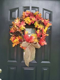 fall wreaths for front door | Autumn Wreath....Front Door Wreath....Fall Wreath | Holidays