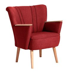 Dieser Einzelsessel in ein Eyecatcher der besonderen Art. Genau das Richtige für Ihr Wohnambiente. Die Holzapplikationen an den Armlehnen und die Buchefüße sind naturfarben gebeizt. Der Stoff möbelt durch seinen weichen Griff und trendigen Farben den Retro-Look auf. Im Rücken befinden sich vier Ziernähte. Die Rückseite ist mit Originalstoff bezogen. Somit ist der Sessel frei im Raum stellbar. Füße zur einfachen Selbstmontage.