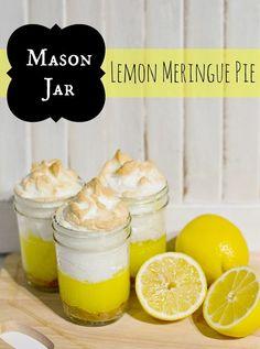 Lemon Meringue Pie in Mason Jars